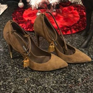 Tom Ford Suede Ankle lock - 40.5